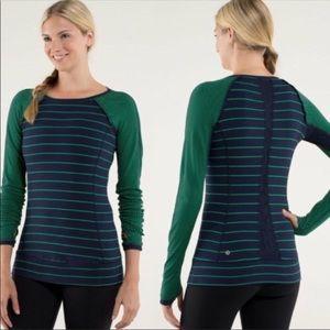 Lululemon Full Tilt Long Sleeve Striped Top